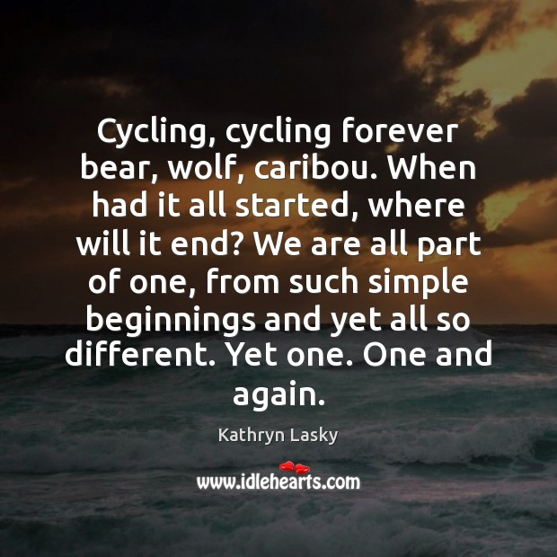 Image, Cycling, cycling forever bear, wolf, caribou. When had it all started, where