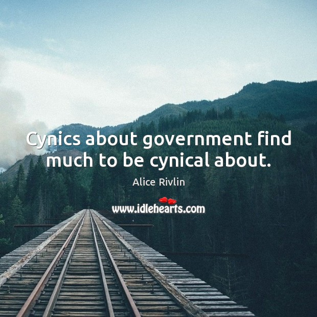 Image, Cynics about government find much to be cynical about.