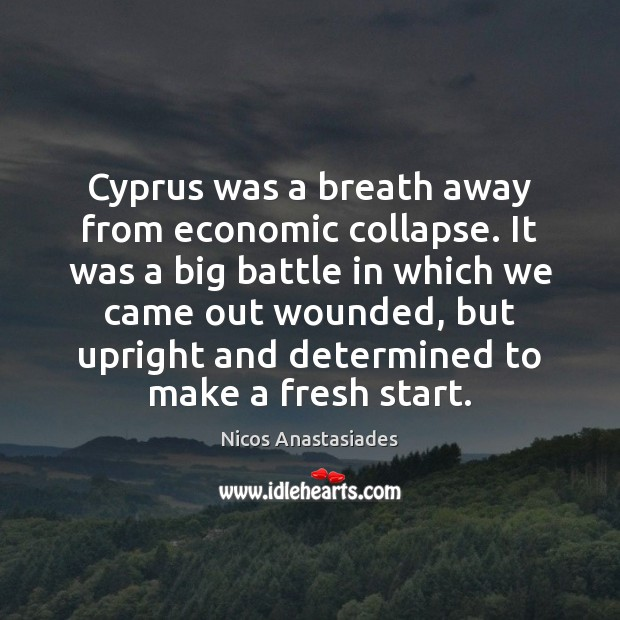 Image, Cyprus was a breath away from economic collapse. It was a big