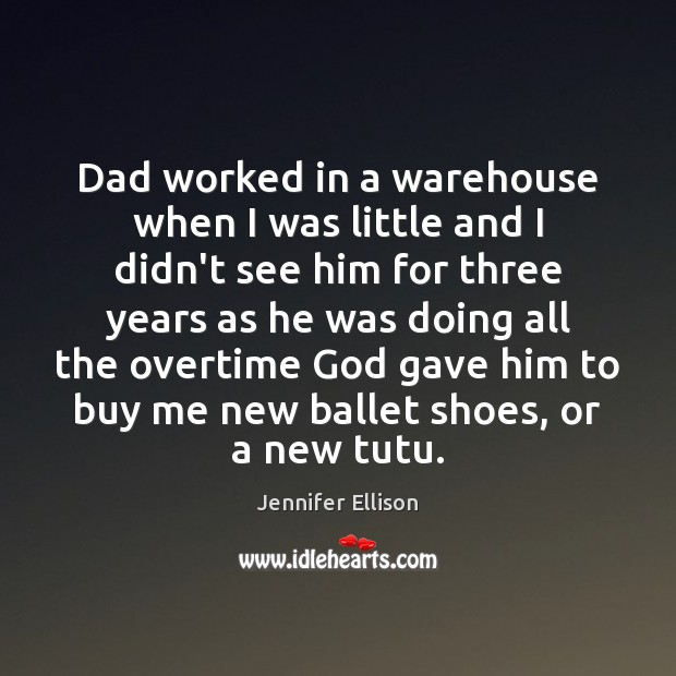 Image, Dad worked in a warehouse when I was little and I didn't