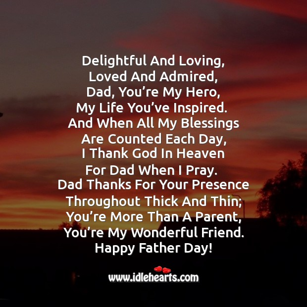 Dad, you're my hero! Father's Day Messages Image