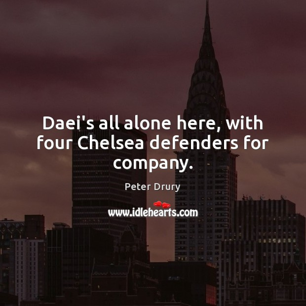 Daei's all alone here, with four Chelsea defenders for company. Image