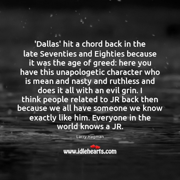 'Dallas' hit a chord back in the late Seventies and Eighties because Image