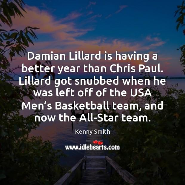 Image, Damian Lillard is having a better year than Chris Paul. Lillard got