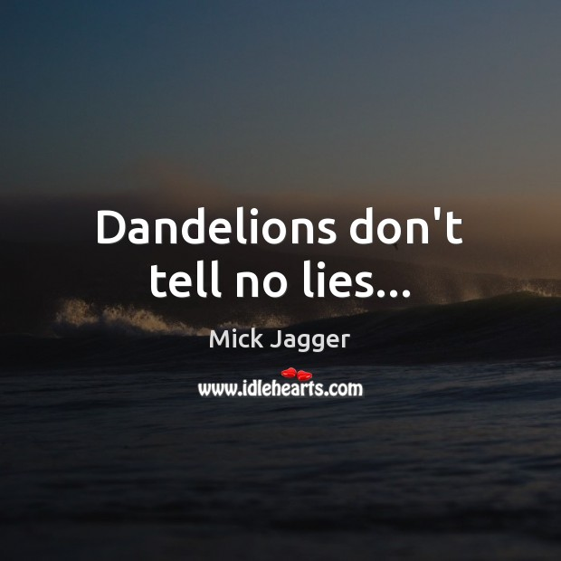 Dandelions don't tell no lies… Image