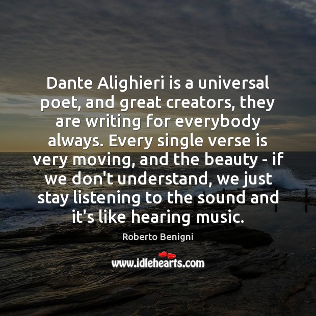 Image, Dante Alighieri is a universal poet, and great creators, they are writing