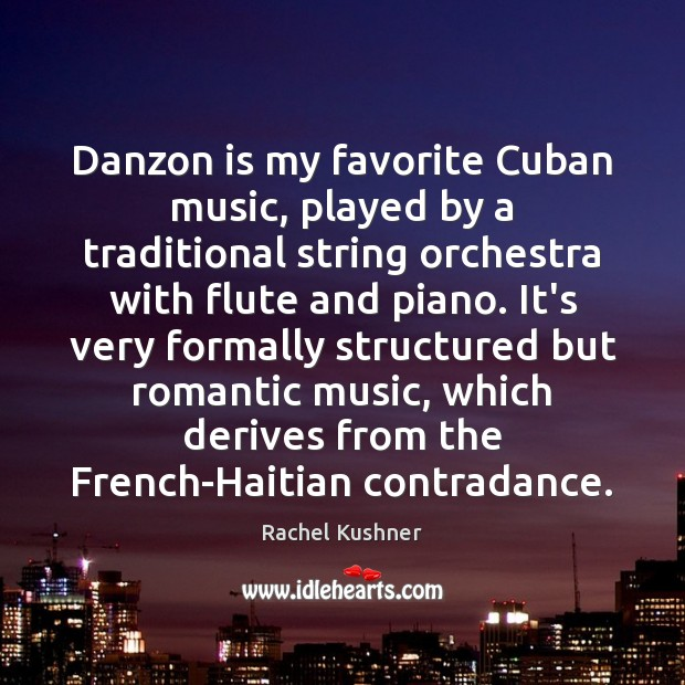 Danzon is my favorite Cuban music, played by a traditional string orchestra Image
