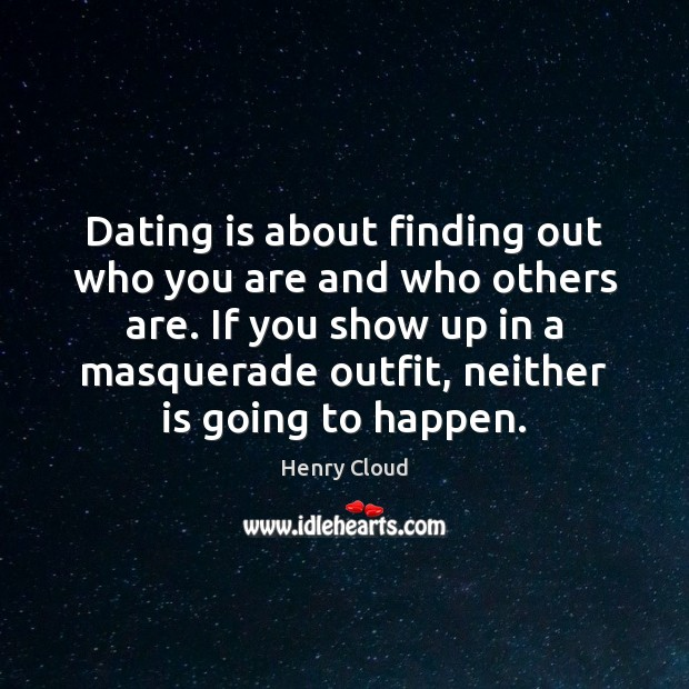 Dating is about finding out who you are and who others are. Dating Quotes Image