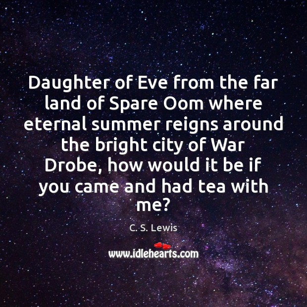 Daughter of Eve from the far land of Spare Oom where eternal Image