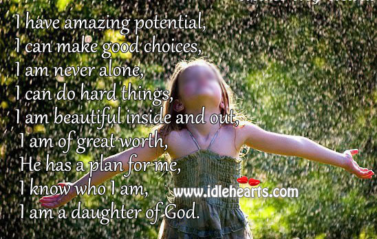Image, I am a daughter of god