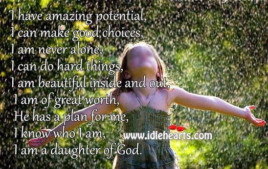 I am a daughter of God Image