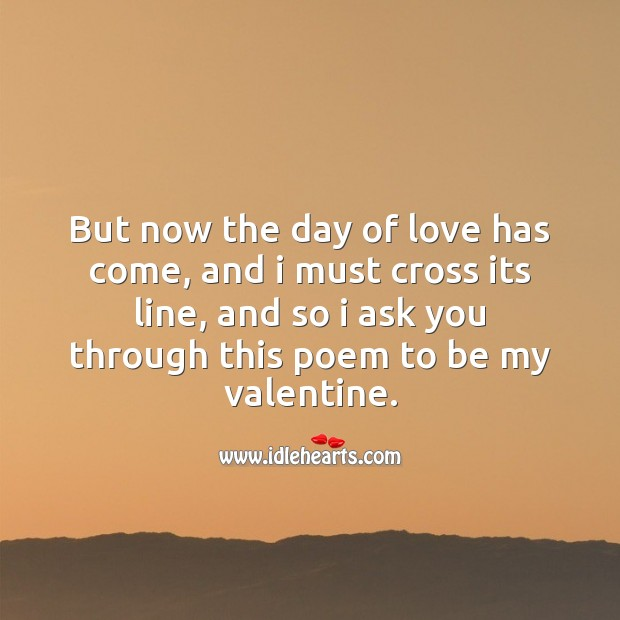 Day of love has come Valentine's Day Messages Image