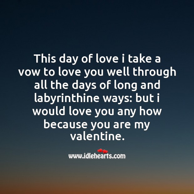 Day of love Valentine's Day Messages Image