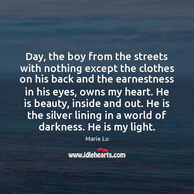 Day, the boy from the streets with nothing except the clothes on Image