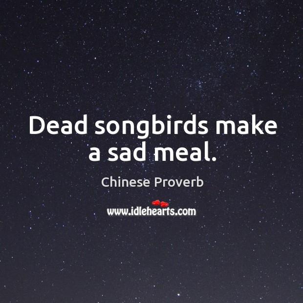 Image, Dead songbirds make a sad meal.