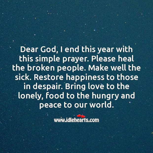 Dear God… My New Year Prayer. Happy New Year Messages Image