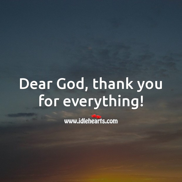 Dear God, Thank You For Waking Me Up.