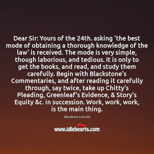 Image, Dear Sir: Yours of the 24th. asking 'the best mode of obtaining