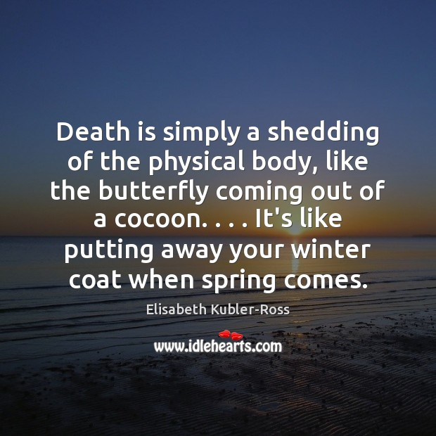 Death is simply a shedding of the physical body, like the butterfly Winter Quotes Image