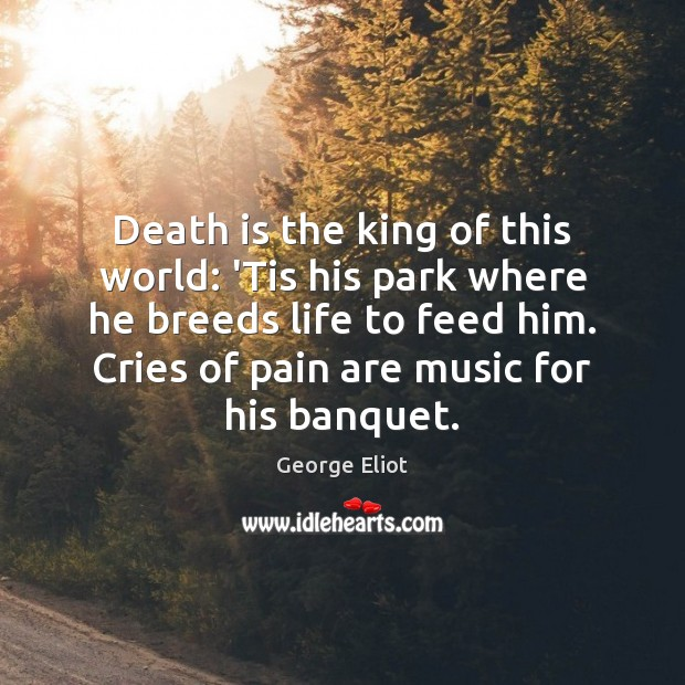 Image, Death is the king of this world: 'Tis his park where he