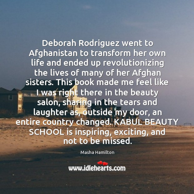Image, Deborah Rodriguez went to Afghanistan to transform her own life and ended