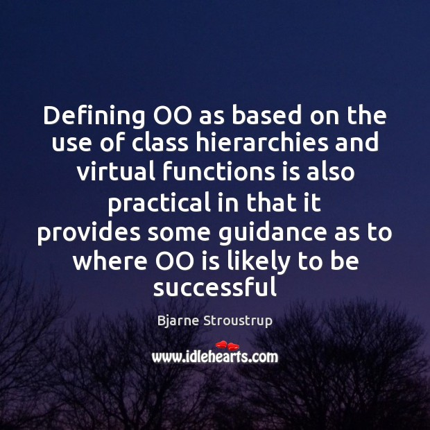 Defining OO as based on the use of class hierarchies and virtual Image