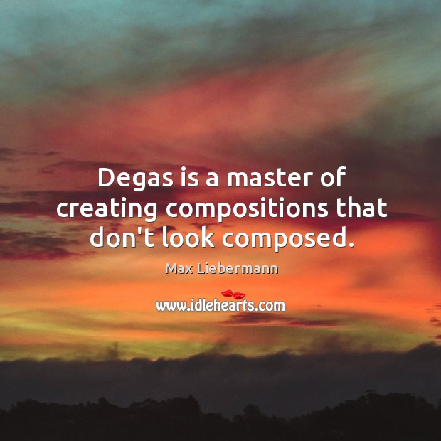 Degas is a master of creating compositions that don't look composed. Image