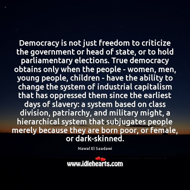 Image, Democracy is not just freedom to criticize the government or head of