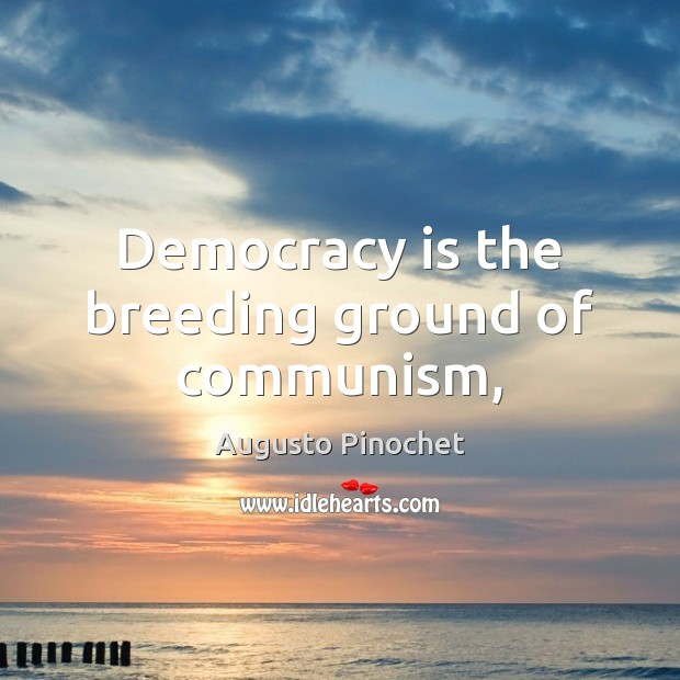 Image, Democracy is the breeding ground of communism,