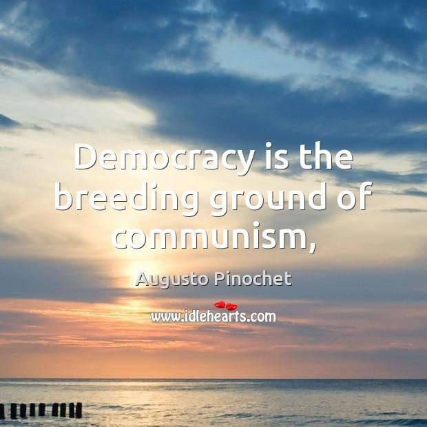 Democracy is the breeding ground of communism, Image