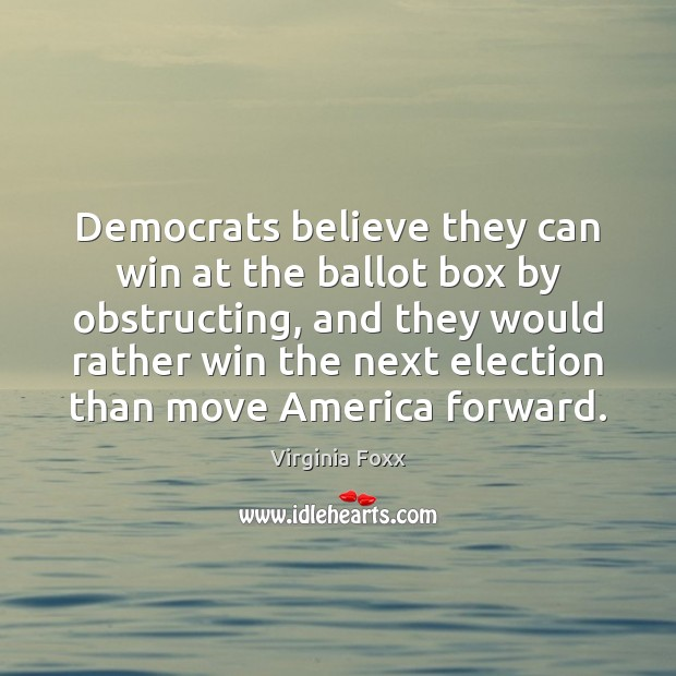 Image, Democrats believe they can win at the ballot box by obstructing, and