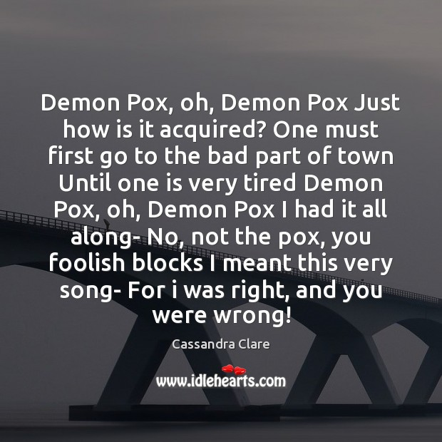 Demon Pox, oh, Demon Pox Just how is it acquired? One must Image
