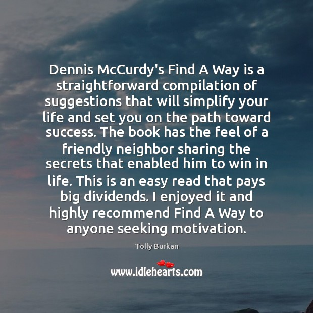 Dennis McCurdy's Find A Way is a straightforward compilation of suggestions that Image