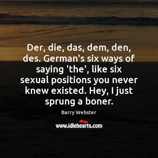 Image, Der, die, das, dem, den, des. German's six ways of saying 'the',