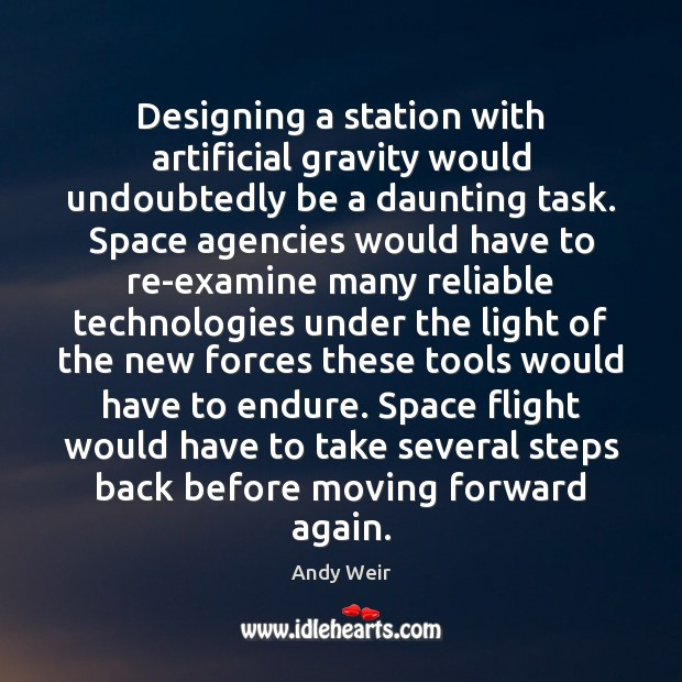 Image, Designing a station with artificial gravity would undoubtedly be a daunting task.
