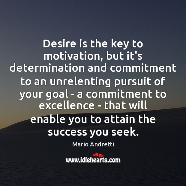 Image, Desire is the key to motivation, but it's determination and commitment to