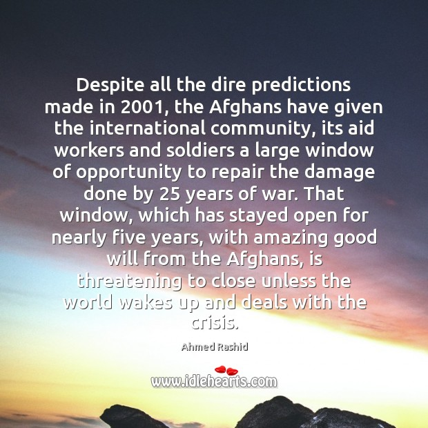 Image, Despite all the dire predictions made in 2001, the Afghans have given the