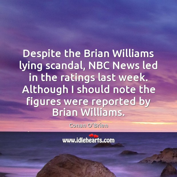 Image, Despite the Brian Williams lying scandal, NBC News led in the ratings