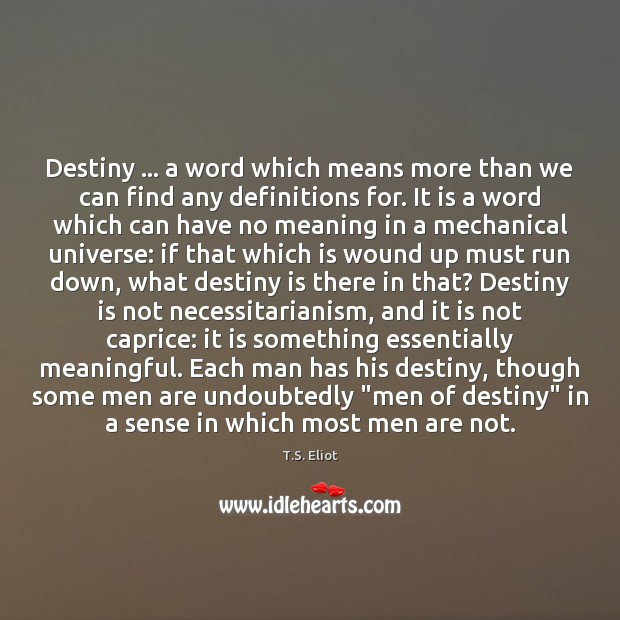 Destiny … a word which means more than we can find any definitions Image