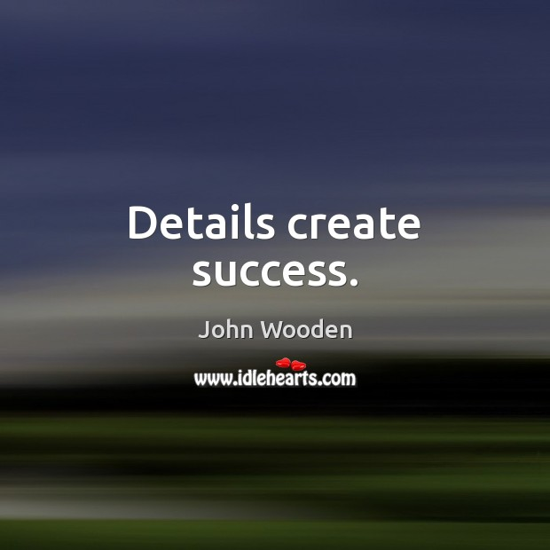 Details create success. Image