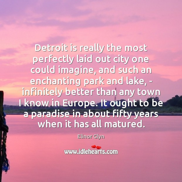 Detroit is really the most perfectly laid out city one could imagine, Image
