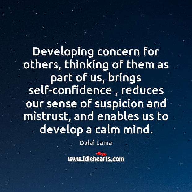 Image, Developing concern for others, thinking of them as part of us, brings