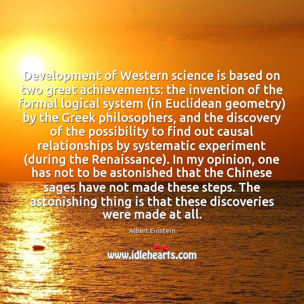 Image, Development of Western science is based on two great achievements: the invention