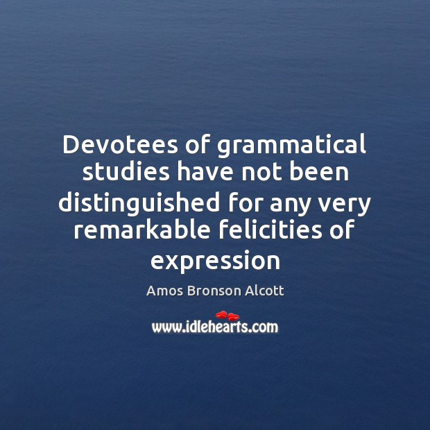 Image, Devotees of grammatical studies have not been distinguished for any very remarkable