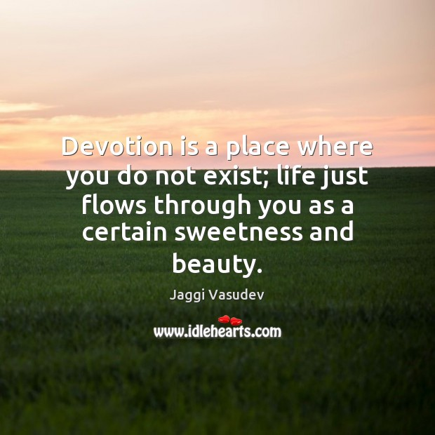 Devotion is a place where you do not exist; life just flows Image
