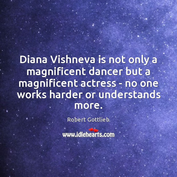 Diana Vishneva is not only a magnificent dancer but a magnificent actress Image