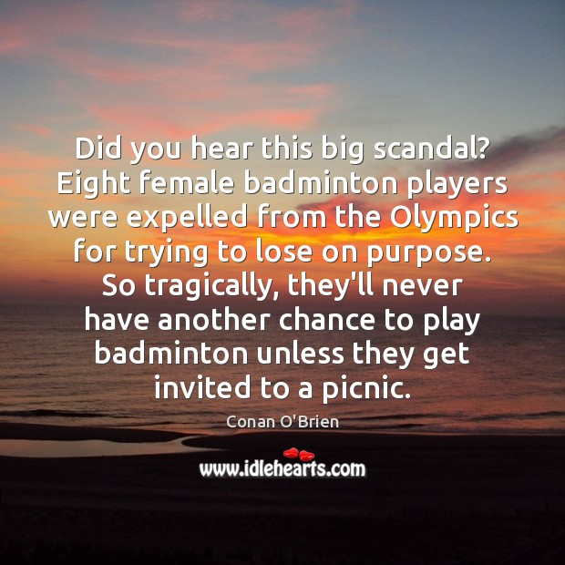 Image, Did you hear this big scandal? Eight female badminton players were expelled