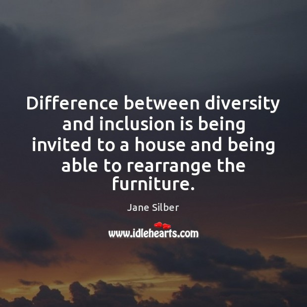 Difference between diversity and inclusion is being invited to a house and Image