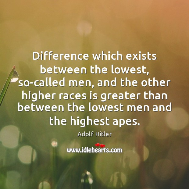 Difference which exists between the lowest, so-called men, and the other higher Image
