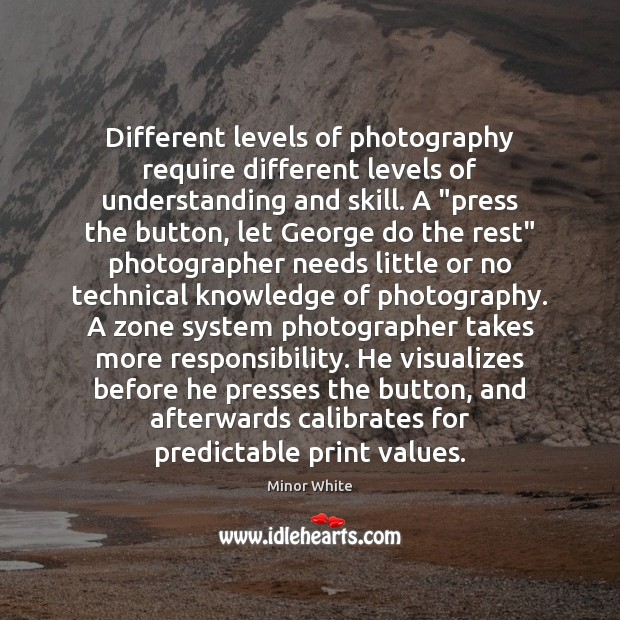 """Image, Different levels of photography require different levels of understanding and skill. A """""""